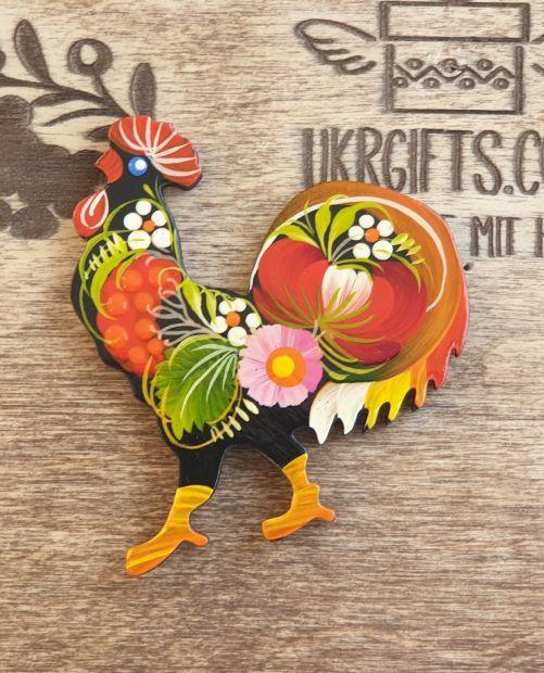 Handgefertigter Kühlschrankmagnet - Huhn