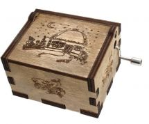 """Musical hurdy-gurdy decorated with ukrainian house with the national melody """"Nich yaka mіsyachna"""""""