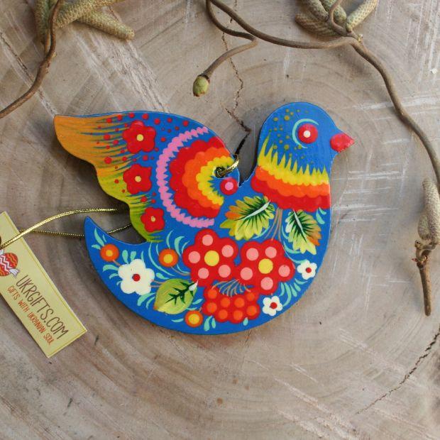 Bird - Easter tree dekoration - Ukrainian painting