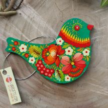 Easter ornaments bird ukrainian painted