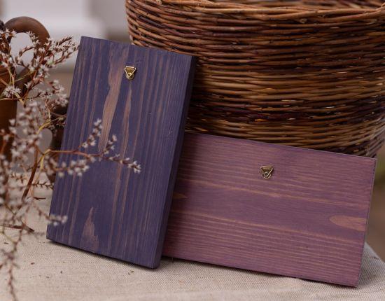 Handbemalte Wandvase, kleine Wanddeko aus Holz
