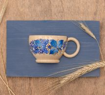Kitchen wall art, small wooden cup for dry flowers, Ukrainian handmade