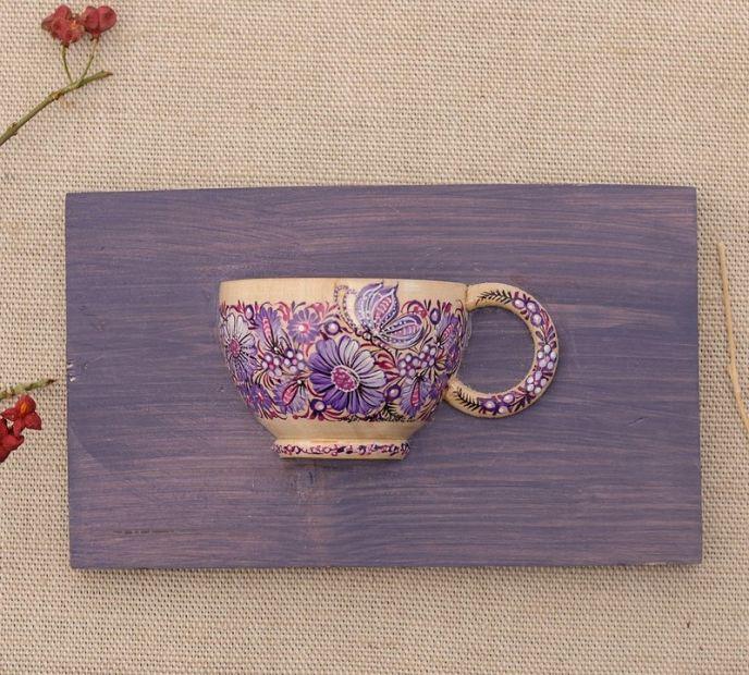 Schöne Wanddekoration für die Küche, Handbemalte kleine Tasse