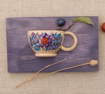 Wanddeko für das Esszimmer, aus Holz, für trockenen Blumen - Ukrainische Handwerkskunst