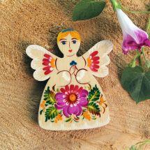 Angel fridge magnet made of wood