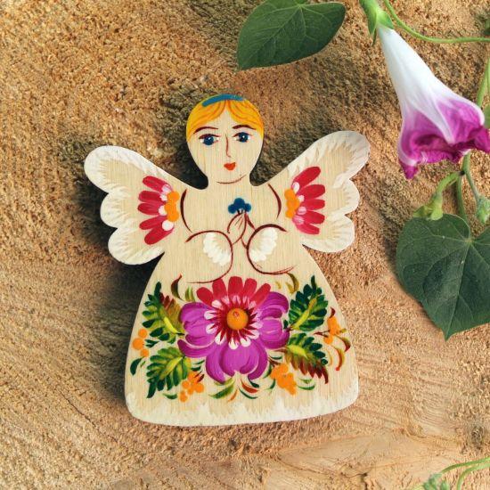 Schöner Engel-Kühlschrankmagnet aus Holz