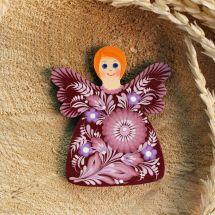 Originelle Engelfigur - Kühlschrankmagnet -fein bemalt