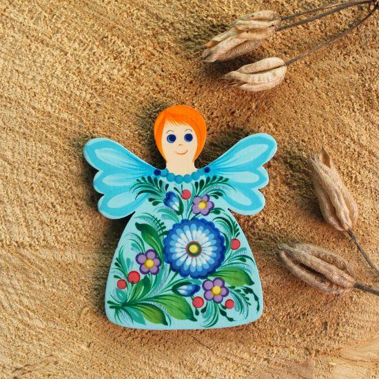 Schöner Kühlschrankmagnet in Engelform -handmade