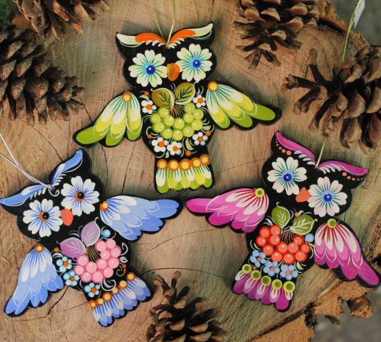 Owls tree Christmas decorations