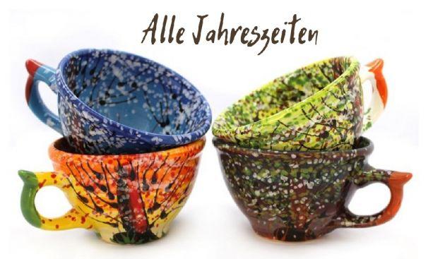 Handbemalte KeramikTeetassen