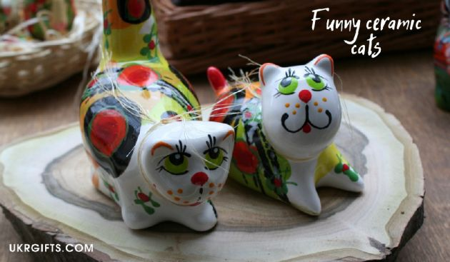Funny Cats in love ceramic valentins day gifts