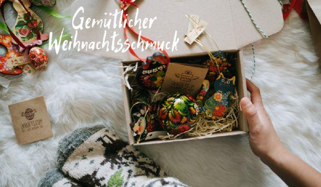Hochwertiger Weihnachtsschmuck aus Holz- Handbemalter Christbaumschmuck