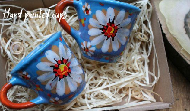 Creative coffee cups ceramic painted
