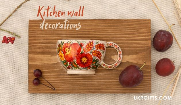 Wooden kitchen wall decoration handcrafted