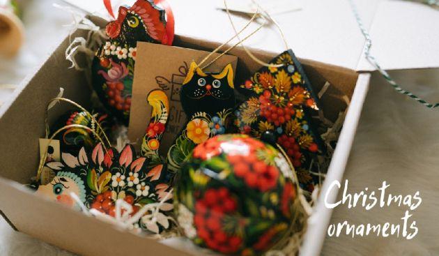 Handmade Christmas ornaments ukrainian art